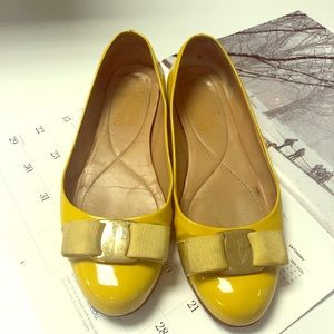 Salvatore Ferragamo varina ballet flats in yellow